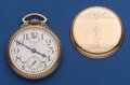 Timepieces:Pocket (post 1900), Waltham 23 Jewel 16 Size Vanguard With Wind Indicator Pocket Watch....