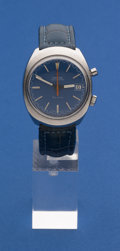 Timepieces:Wristwatch, Omega Steel Chronostop Wristwatch. ...