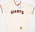 "Baseball Collectibles:Uniforms, Willie Mays ""Say Hey Kid"" Signed Jersey. ..."