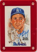 Baseball Collectibles:Others, Sandy Koufax Signed Postcard....