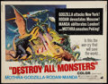 "Movie Posters:Science Fiction, Destroy All Monsters (American International, 1969). Half Sheet(22"" X 28""). Science Fiction.. ..."