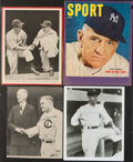 Baseball Collectibles:Photos, Hall of Fame Managers Signed Photographs Lot of 5....