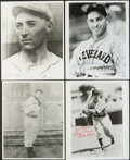 Baseball Collectibles:Photos, Baseball Hall of Fame Outfielders Signed Photographs Lot of 4....