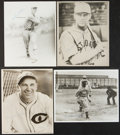 Baseball Collectibles:Photos, Baseball Hall of Famers Signed Original Photographs Lot of 4....
