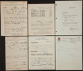 Baseball Collectibles:Others, 1940's-60's Baseball Signed Letters and Questionnaire Lot....