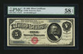 Large Size:Silver Certificates, Fr. 260 $5 1886 Silver Certificate PMG Choice About Uncirculated 58EPQ.. ...