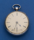 Timepieces:Pocket (pre 1900) , R. J. Wright Full Jeweled Lever Fusee Sterling Case. ...