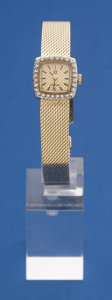 Timepieces:Wristwatch, Omega 14k Gold Ladies Wristwatch 14k Gold Band. ...