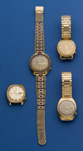 Timepieces:Wristwatch, Four Accutron's Wristwatches For Parts Or Repair. ... (Total: 4 Items)