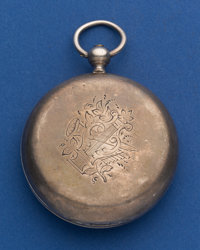Tobias Running Silver Hunter's Case Key Wind Pocket Watch