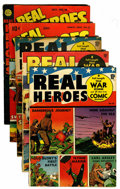 Golden Age (1938-1955):Non-Fiction, Real Heroes Comics #10-13 and 16 Group (Parents' MagazineInstitute, 1943-46).... (Total: 5 Comic Books)