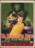 "Movie Posters:Fantasy, Beauty and the Beast (United Artists, 1962). Belgian (13.75"" X18.75""). Fantasy.. ..."