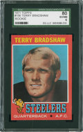 Football Cards:Singles (1970-Now), 1971 Topps Terry Bradshaw #156 SGC 80 EX/NM 6....