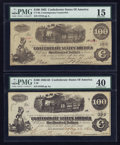 Confederate Notes:1862 Issues, T40 $100 1862.. CT40 $100 1862.. ... (Total: 2 notes)
