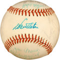 Baseball Collectibles:Balls, 1975 Los Angeles Dodgers Team Signed Baseball (19 Signatures)....