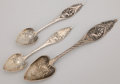 Silver Flatware, American:Durgin, A GROUP OF THREE AMERICAN SILVER SPOONS . Wm. B. Durgin Co.,Concord, New Hampshire & Providence, Rhode Island, circa 1890.... (Total: 3 Items)
