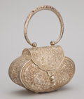 Silver Smalls:Other , A SILVER REPOUSSÉ PURSE . Maker unknown, circa 1950 . Marks:925. 3-3/8 x 5-5/8 inches (8.6 x 14.3 cm) (measurement not...