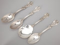 Silver Flatware, American:Reed & Barton, A SET OF FOUR AMERICAN SILVER SERVING PIECES . Reed & Barton,Taunton, Massachusetts, circa 1907. Marks: REED & BARTON,ST... (Total: 4 Items)