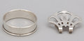 Silver Holloware, American:Napkin Rings, A GROUP OF FOUR AMERICAN SILVER NAPKIN RINGS AND TWO AMERICANSILVER NAPKIN CLIPS . Gorham Manufacturing Co.or Web Silver Co...(Total: 6 Items)