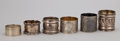 Silver Holloware, American:Napkin Rings, A GROUP OF SIX SILVER NAPKIN RINGS . Gorham Manufacturing Co. orunknown, circa 1900. Marks: STERLING or STERLING, 92...(Total: 6 Items)