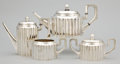Silver Holloware, Continental:Holloware, AN AUSTRIAN SILVER AND SILVER GILT TEA AND COFFEE SERVICE .Heinrich Schönblüh, Vienna, Austria, circa 1922. Marks:H.S.... (Total: 5 Items)