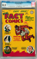 Golden Age (1938-1955):Non-Fiction, Real Fact Comics #1 (DC, 1946) CGC VF+ 8.5 Off-white to whitepages....