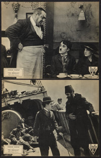 """The Immigrant (RKO, R-1932). Lobby Cards (2) (11"""" X 14""""). Comedy. ... (Total: 2 Items)"""