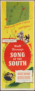 "Movie Posters:Animated, Song of the South (RKO, 1946). Insert (14"" X 36""). Animated.. ..."