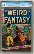 Golden Age (1938-1955):Science Fiction, Weird Fantasy #21 (EC, 1953) CGC VF- 7.5 Off-white pages....