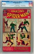 Silver Age (1956-1969):Superhero, The Amazing Spider-Man #4 (Marvel, 1963) CGC VG 4.0 Cream to off-white pages....