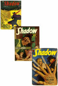 Pulps:Detective, Shadow Group (Street & Smith, 1938-44) Condition: AverageGD/VG.... (Total: 3 Comic Books)