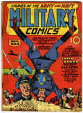 Golden Age (1938-1955):War, Military Comics #4 (Quality, 1941) Condition: GD+....