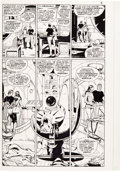 Original Comic Art:Panel Pages, Dave Gibbons Watchmen #8 page 5 Original Art and Color GuideGroup (DC, 1987).... (Total: 2 Items)