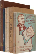 Books:First Editions, Five Texas County Histories, including Charles Didway, editor.Wagon Wheels: A History of Garza County. ... (Total: 5Items)