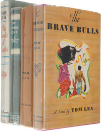 Four First Edition Tom Lea Novels, Each Signed, including: Brave Bulls. Boston: Little, Brown a