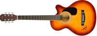 Willie Nelson Acoustic Guitar Signed. The famed Texas singer-songwriter has prominently signed this beautiful Main St