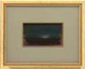 """Miscellaneous, Reveau Bassett Untitled Pastel on Board, 7"""" x 4"""", featuring arising harvest moon. Signed in the lower right; undated. M..."""