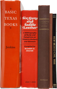 Five Bibliographies Concerning Texas and the West, including: Ramon Adams. Six-Guns and Saddle Leath