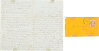 "Post-Civil War Autograph Letter Signed with News from San Antonio. Four pages, 5"" x 8"", San Antonio, October 8..."