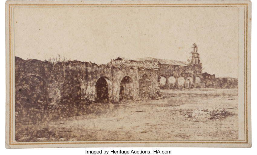 PhotographyCDVs Carte De Visite Of Mission San Juan Capistrano On The Banksof