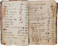 Autographs:Celebrities, 19th Century Ledger of Texas Cattle Brands, dated 1853 through1867. The handwritten ledger appears to have belonged to Asa ...