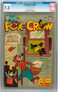Golden Age (1938-1955):Funny Animal, Fox and the Crow #7 (DC, 1952) CGC VF- 7.5 Off-white to whitepages....