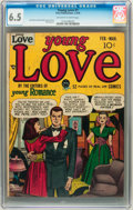 Golden Age (1938-1955):Romance, Young Love #1 (Prize, 1949) CGC FN+ 6.5 Off-white to whitepages....