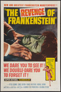 "Movie Posters:Horror, The Revenge of Frankenstein (Columbia, 1958). One Sheet (27"" X 41""). Horror.. ..."