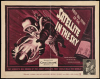 """Satellite In The Sky (Warner Brothers, 1956). Half Sheet (22"""" X 28""""). Science Fiction"""