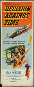 """Movie Posters:Drama, Decision Against Time (MGM, 1957). Insert (14"""" X 36""""). Drama.. ..."""