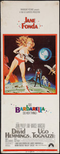 "Movie Posters:Science Fiction, Barbarella (Paramount, 1968). Insert (14"" X 36""). Science Fiction....."