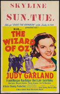 """Movie Posters:Fantasy, The Wizard of Oz (MGM, R-1955). Window Card (14"""" X 22""""). Fantasy....."""
