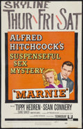 "Movie Posters:Hitchcock, Marnie (Universal, 1964). Window Card (14"" X 22""). Hitchcock.. ..."