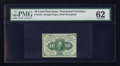 Fractional Currency:First Issue, Fr. 1242 10¢ First Issue PMG Uncirculated 62.. ...